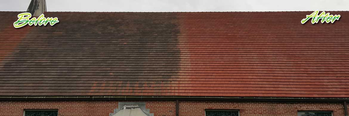 terra cotta roof cleaning
