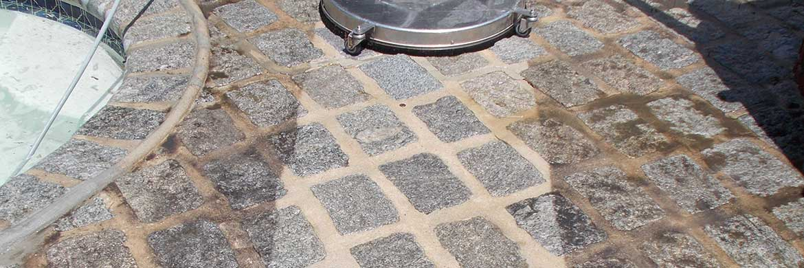 cobblestone cleaning